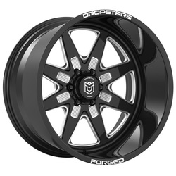 Dropstars Wheels F61 BM1 Forged - Gloss Black w/ CNC Milled Accents - 22x14