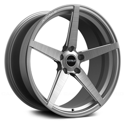 Fittipaldi Wheels FSF02 HB - Brushed with Dark Tint Clear-Coat Rim