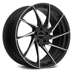 Fittipaldi Wheels FSF05 MB - Gloss Black with Machined Face Accents Rim