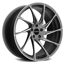 Fittipaldi Wheels FSF05 MG - Gloss Graphite with Machined Face Accents Rim