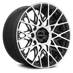 Fittipaldi Wheels FSF08 MB - Machined Face with Gloss Black Accents