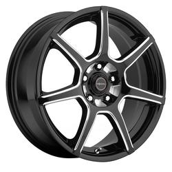 Focal Wheels 422 F-007 - Gloss Black w/Milling & Clear Coat