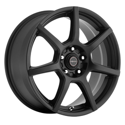 Focal Wheels 422 F-007 - Satin Black with Satin Clear-Coat Rim - 15x6.5