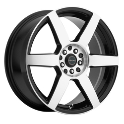 Focal Wheels 444 F-06 - Gloss Black with Diamond Cut Face and Clear-Coat Rim