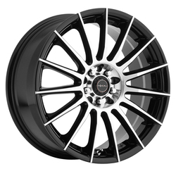 Focal Wheels 442 F-15 - Gloss Black with Diamond Cut Face and Clear-Coat Rim