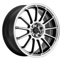 Focal Wheels 446 F-13 - Gloss Black with Diamond Cut Face and Clear-Coat Rim
