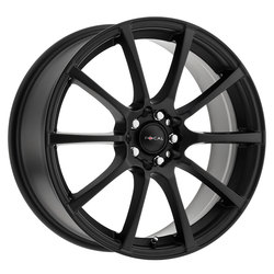 Focal Wheels 448 F-20 - Satin Black w/Satin Clear Coat Rim - 16x7