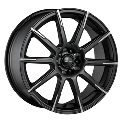 Focal Wheels 452 F-52 - Satin Black w/Cut Accents Rim - 16x7