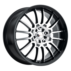 Focal Wheels 456 F-56 - Gloss Black w/Diamond Cut Face & Clear Coat Rim