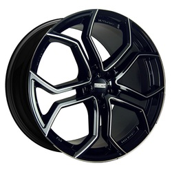 Fondmetal Wheels 185BM 9XR - Gloss Black/Milled Accents