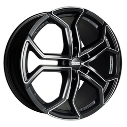 Fondmetal Wheels 185MM 9XR - Gloss Black w/Milled Accents
