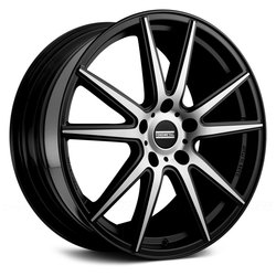 Fondmetal Wheels 182MB STC-10 - Gloss Black Machined - 22x11