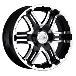 Gear Offroad Wheels 713MB Double Pump - Mirror Machined Face w/Gloss Black Accents Rim
