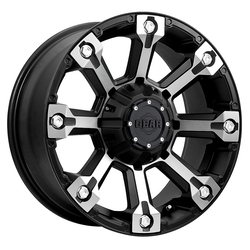 Gear Alloy Wheels 719MB - Machined Face w/ Carbon Black Accents - 18x9