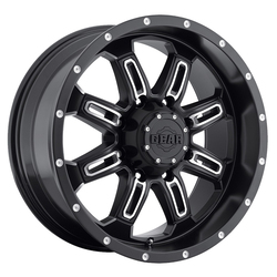Gear Offroad Wheels 725MB Dominator - Satin Black w/Mach Accents Rim - 18x9