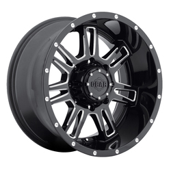 Gear Offroad Wheels 737BM Challenger - Gloss Black w/Milled Accents Rim