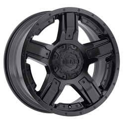 Gear Offroad Wheels 740B Manifold - Satin Black w/Satin Black Spoke Inserts Rim - 18x9