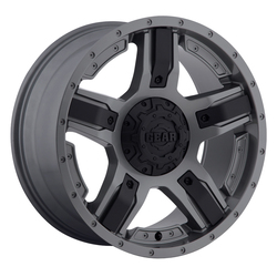 Gear Offroad Wheels Gear Offroad Wheels 740GB Manifold - Gunmetal w/Carbon Black Spoke Inserts - 17x9