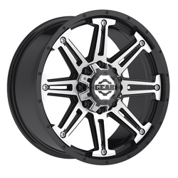 Gear Alloy Wheels 741MB Mechanic - Gloss Black w/ Mirror Machined Accents
