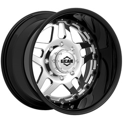 Gear Alloy Wheels 744BV Drivetrain - Bright PVD Center/ Gloss Black Lip
