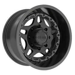Gear Alloy Wheels 744B Drivetrain - Satin Blk Center w/Gloss Blk Barrel & Lip-Edge
