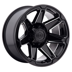 Gear Offroad Wheels 745MB Trident - Gloss Black w/Machined Spoke Accents Rim