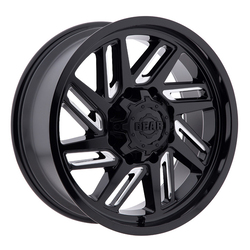 Gear Offroad Wheels 748BM Hacksaw - Gloss Black w/Milled Accents Rim