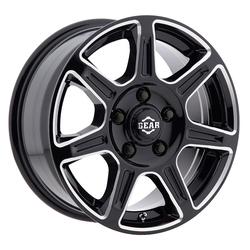 Gear Offroad Wheels 750BM Sprinter - Gloss Black w/Milled Accents Rim