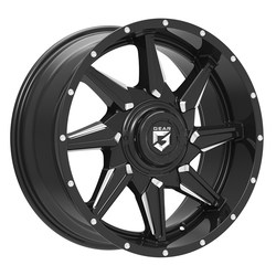 Gear Offroad Wheels 751BM Wrath - Gloss Black with CNC Milled Accents Rim