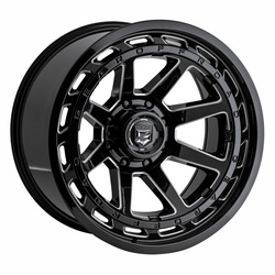 Gear Offroad Wheels 754BM - Gloss Black w/Milled Accents Rim - 18x9