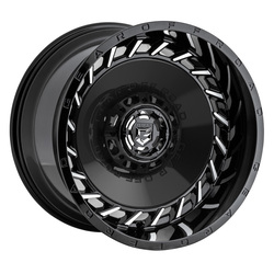 Gear Offroad Wheels 756MB - Gloss Black with Machined Face Rim