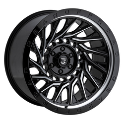 Gear Offroad Wheels 757MB - Gloss Black with Machined Face Rim - 22x10