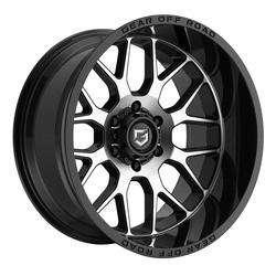 Gear Offroad Wheels 763MB Raid - Black Machined Rim - 20x12
