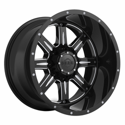 Gear Offroad Wheels 726BM Big Block - Gloss Black w/Milled Accents Rim