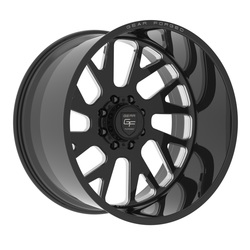 Gear Alloy Wheels F71BM1 Forged - Gloss Black w/Milled Accents - 22x12