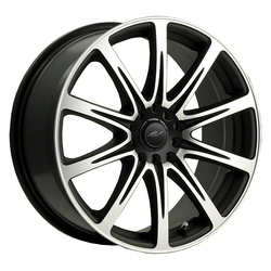 ICW Racing Wheels 209MB - Mirror Face & Lip Edge w/Gloss Blk Accents Rim