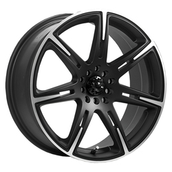 ICW Racing Wheels ICW Racing Wheels 210MB Kamikaze - Carbon Black/Machined Accents & Satin Clear Coat - 15x6.5