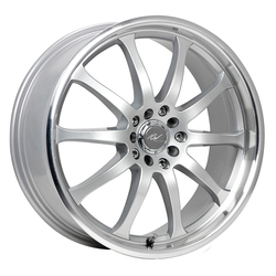 ICW Racing Wheels ICW Racing Wheels 211MS Bonzai - Titanium Silver w/Mirror Machined Lip - 15x6.5