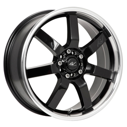 ICW Racing Wheels 213MB Osaka - Gloss Black w/Mirror Machined Lip Rim - 15x6.5