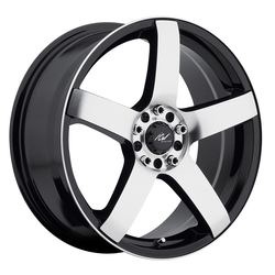 ICW Racing Wheels Mach 5 - Mirror Face & Lip Edge w/Gloss Black Accents Rim - 15x6.5
