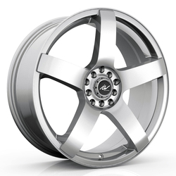 ICW Racing Wheels ICW Racing Wheels 216S Mach 5 - Titanium Silver - 15x6.5