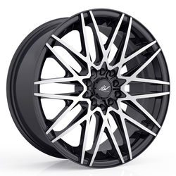 ICW Racing Wheels Sapporo - Machined Face w/Gloss Black Accents Rim - 16x7.5