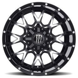 Monster Edition Wheels 645MB - Black/Machined w/Chrome Cap