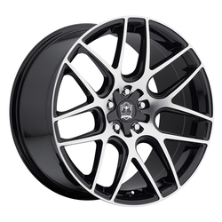 Motiv Wheels 409MB Magellan - Mirror Machine Face w/ Gloss Black Accents Rim