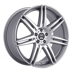 Motiv Wheels 414AB Modena - Anthracite w/ Brushed Face Rim