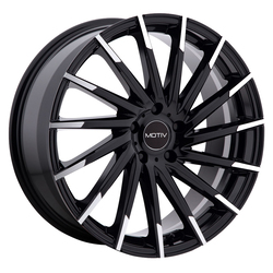 Motiv Wheels 417MBT Montage - Gloss Black w/ Mirror Machined Spoke Tips Rim