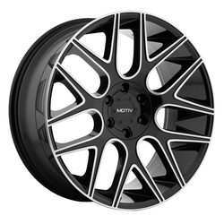 Motiv Wheels 421MB Medallion - Gloss Black w/ Mirror Machined Face and Lip Accents Rim - 24x9.5