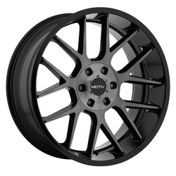 Motiv Wheels 422MBDT Midnight - Gloss Black w/Machined Face & Dark Tint Rim - 24x9.5