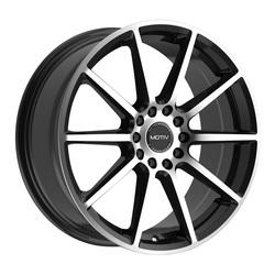 Motiv Wheels 431MB Elicit - Machined Black Rim - 18x7.5