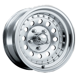Pacer Wheels 162M Aluminum Mod - Machined Finish w/Clear Coat Rim - 15x7